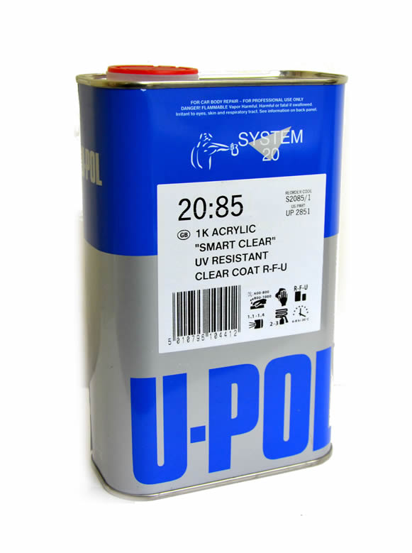 UPOL 1K Smart Clear Lacquer 1Litre RFU