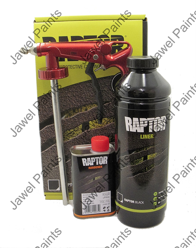 U-POL Raptor Kit 1LTR With Gun & Tinted To Any Colour