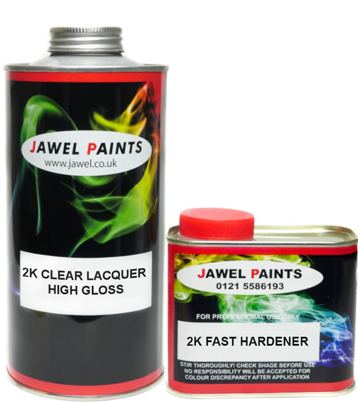 2K Acrylic High Gloss Lacquer Scratch Resistant Kit 1.5Litre