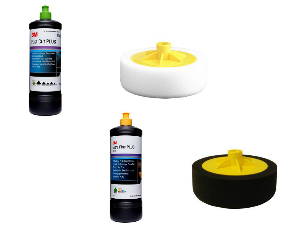 3M Compound & Polishing Kit With Foam Heads