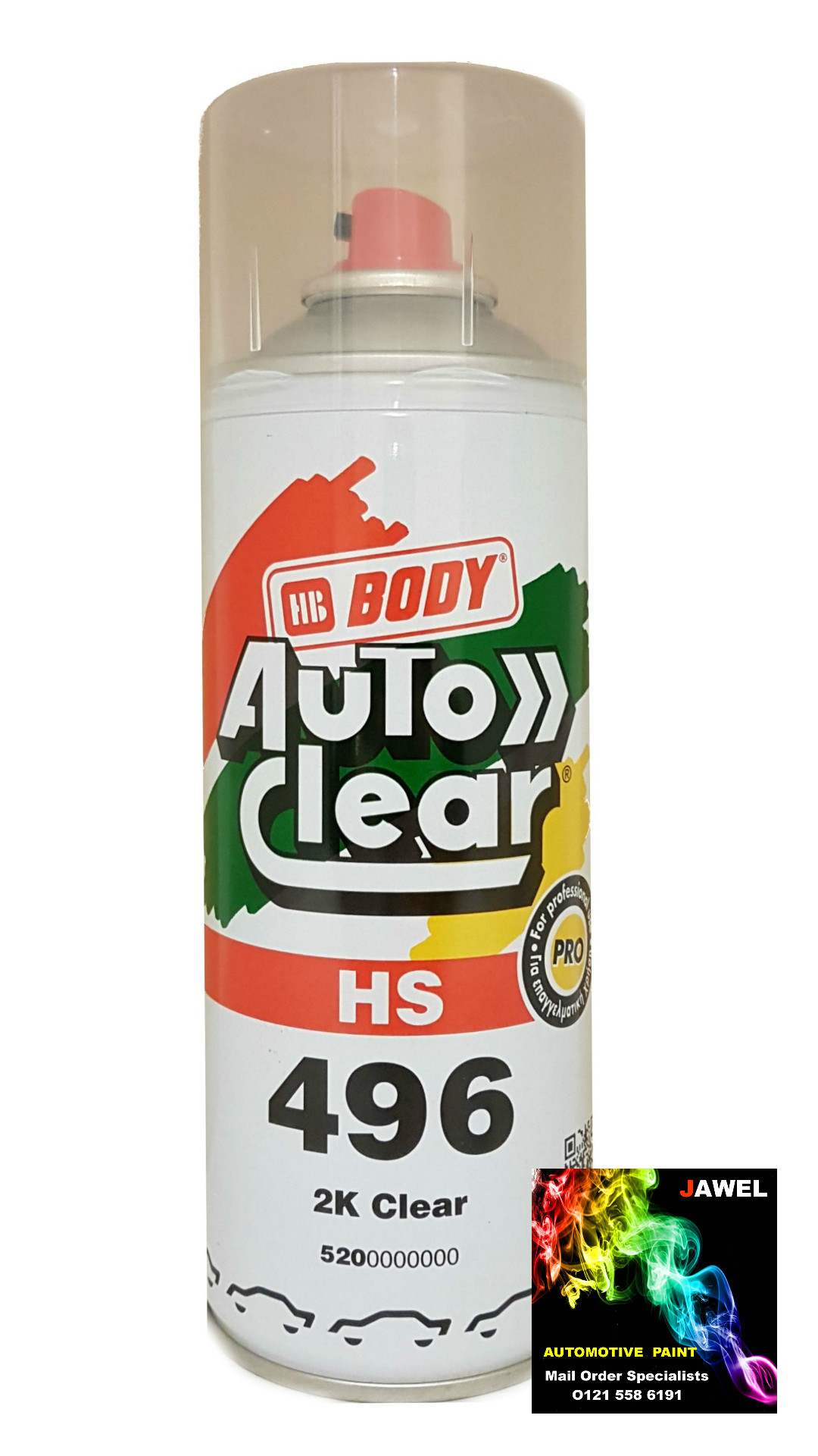 HB Body 496 Clear Lacquer 2k High Solids Aerosol 400ML