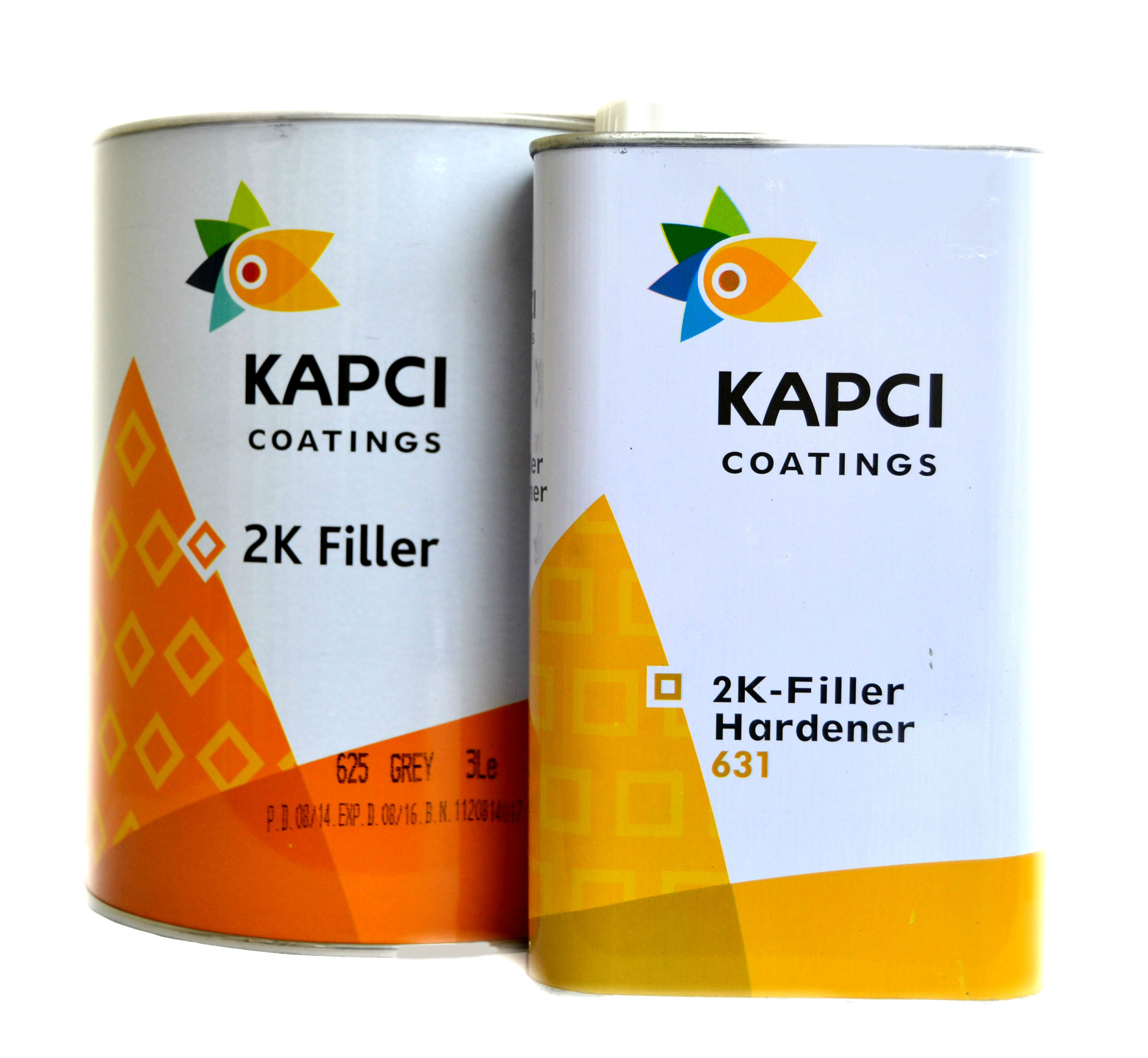 Kapci 2K Grey High Build Primer 3.75Litre Kit