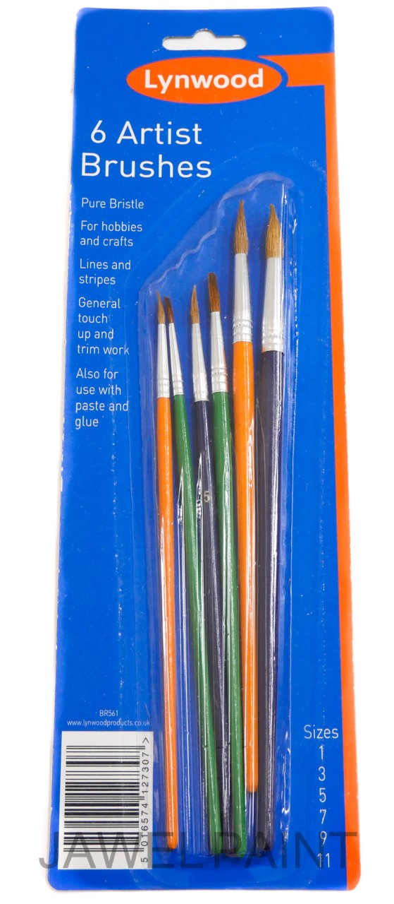 Lynwood Artist Brushes Round PK6