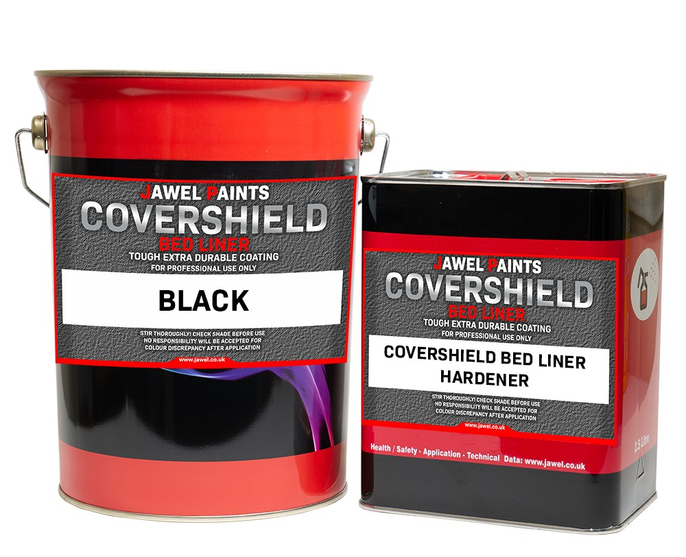 CoverShield 2K Acrylic Bed Liner 7.5Litre Kit Black