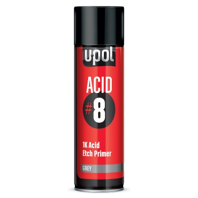 Acid 8 Etch Primer Aerosol Grey 450ML
