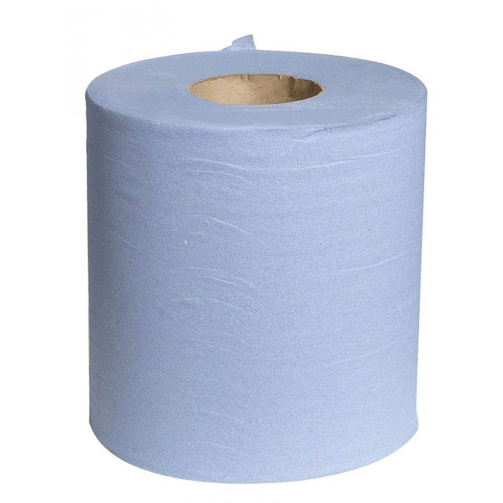 Paper Rolls Disposable 6PK Blue/White