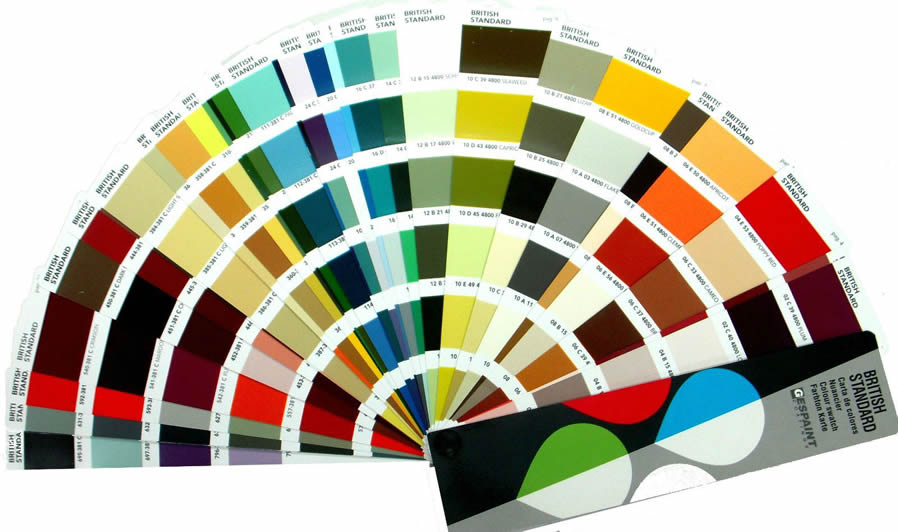 British Standard Complete Colour Chart