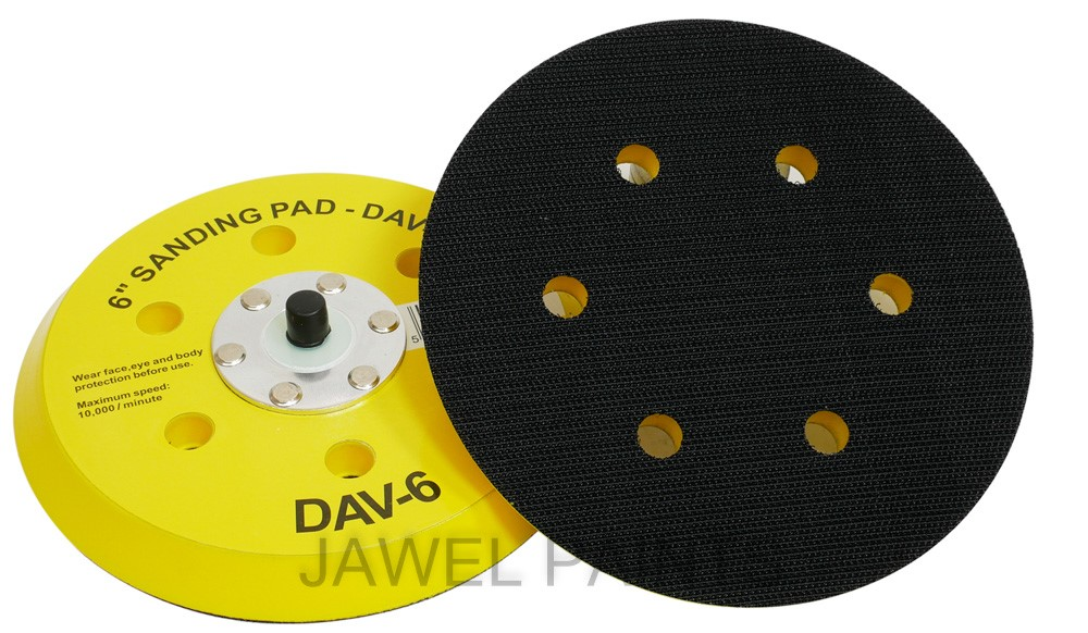 "Backing Pad 6"" Velcro 6 Holes"