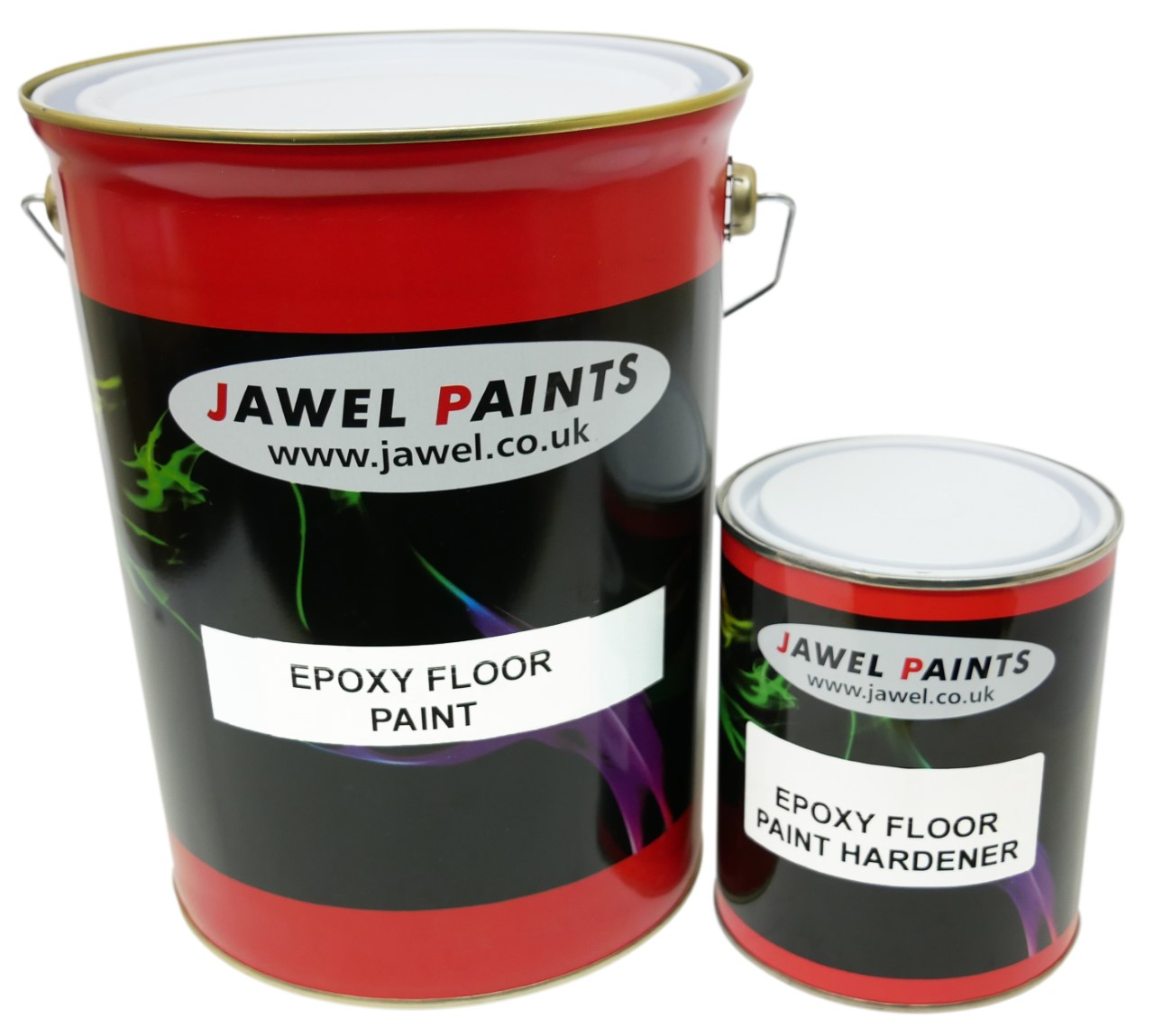 Epoxy Floor Paint 4LT Plus 1LT Solution Grey