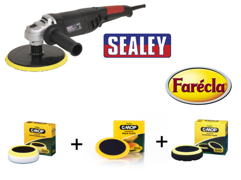 Sealey ER1700P Polisher With Polishing And Compounding Head