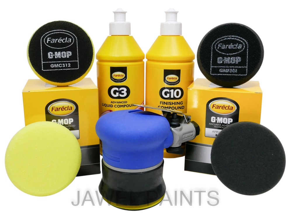 75mm Air Palm Sander Kit With Compound & Polish