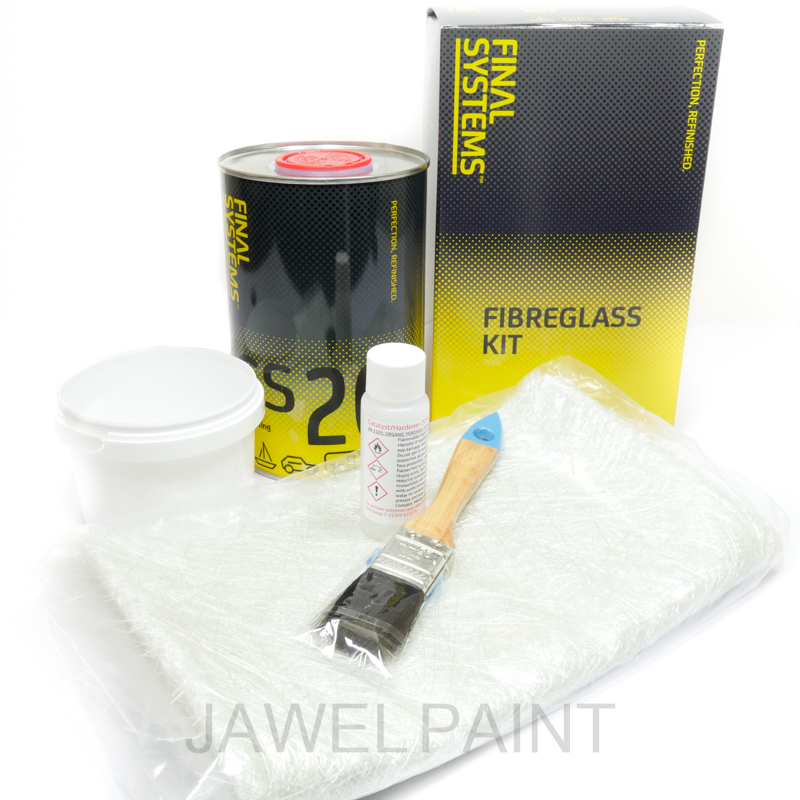 Fibre Glass Kit Large With Resin, Matting & Hardener
