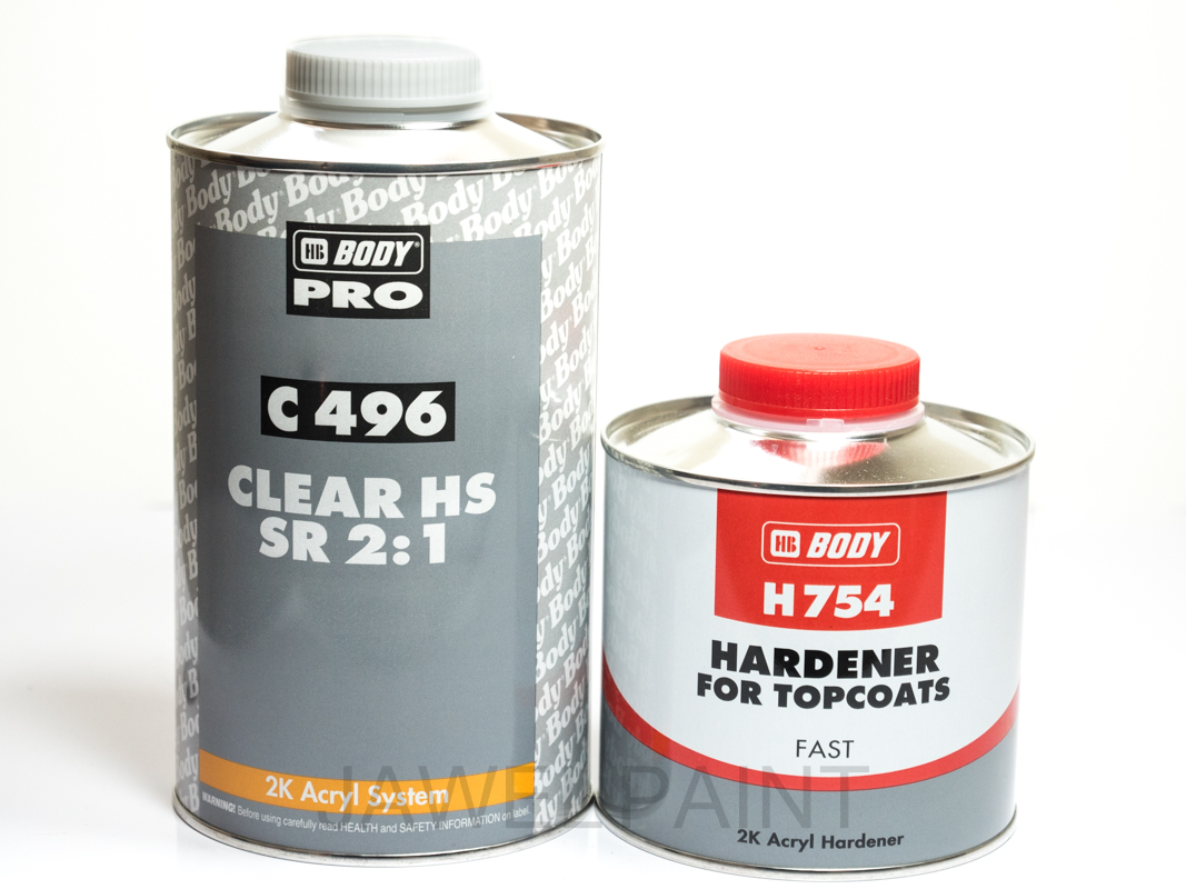 HB Body 496 2k HS Clear Lacquer Kit 1.5Litre 2-1