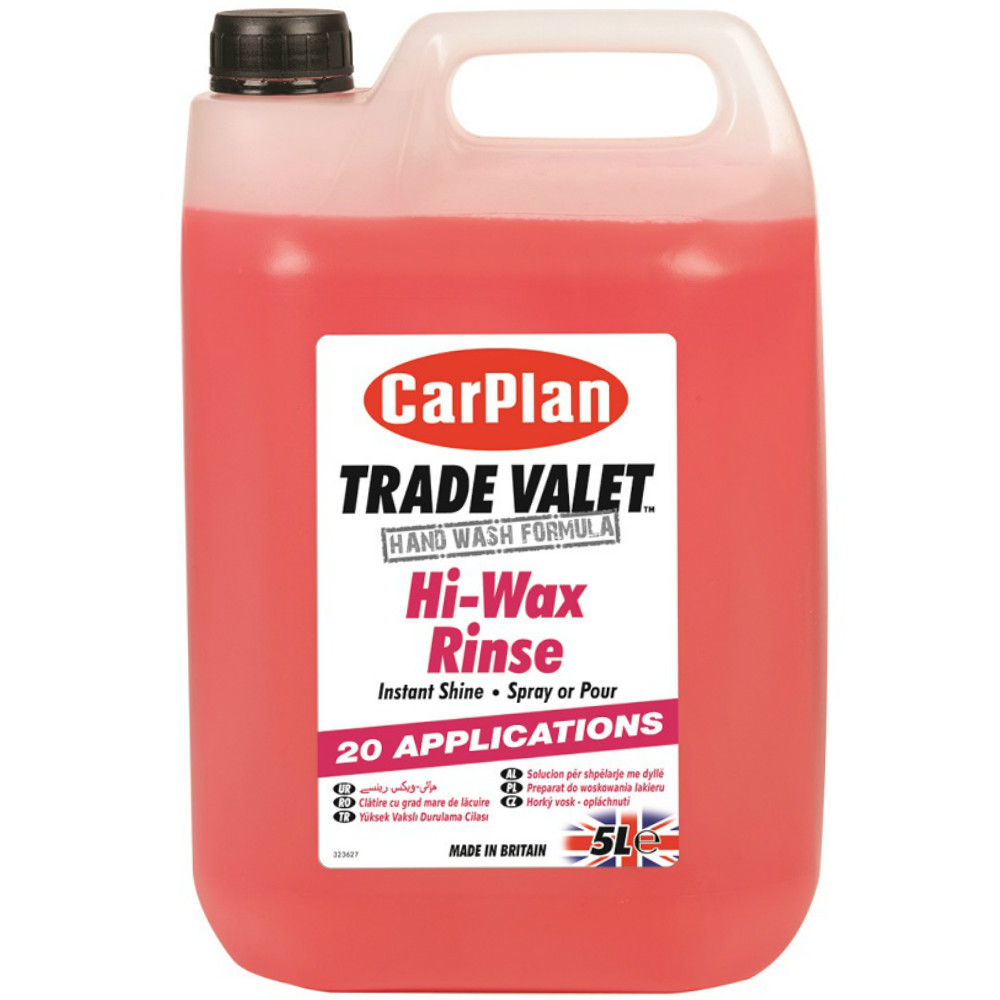 CarPlan Trade Valet Hi-Wax Rinse 5Litre