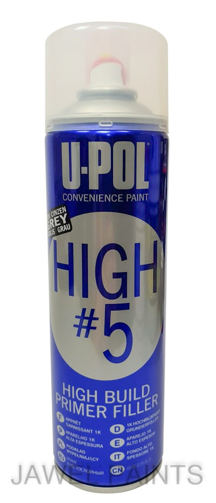 U-POL High 5 Primer Grey aerosol 450ML