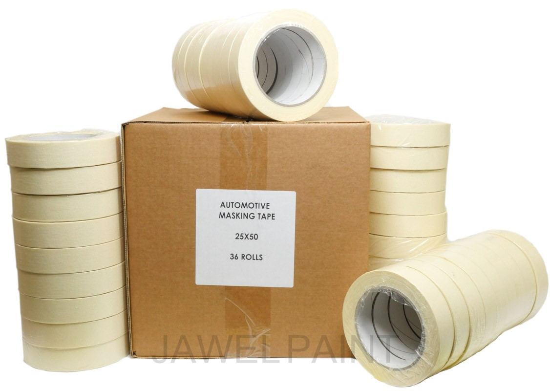 "Jawel High Quality Masking Tape 1"" Box of 36 Rolls"