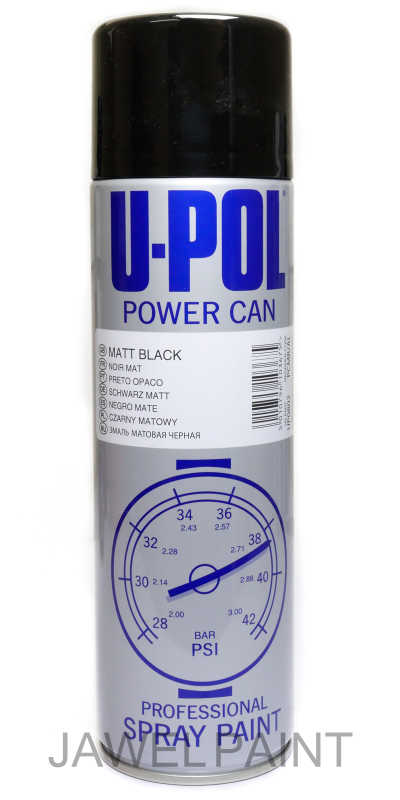 Power Can Matt Black Aerosol 500ML