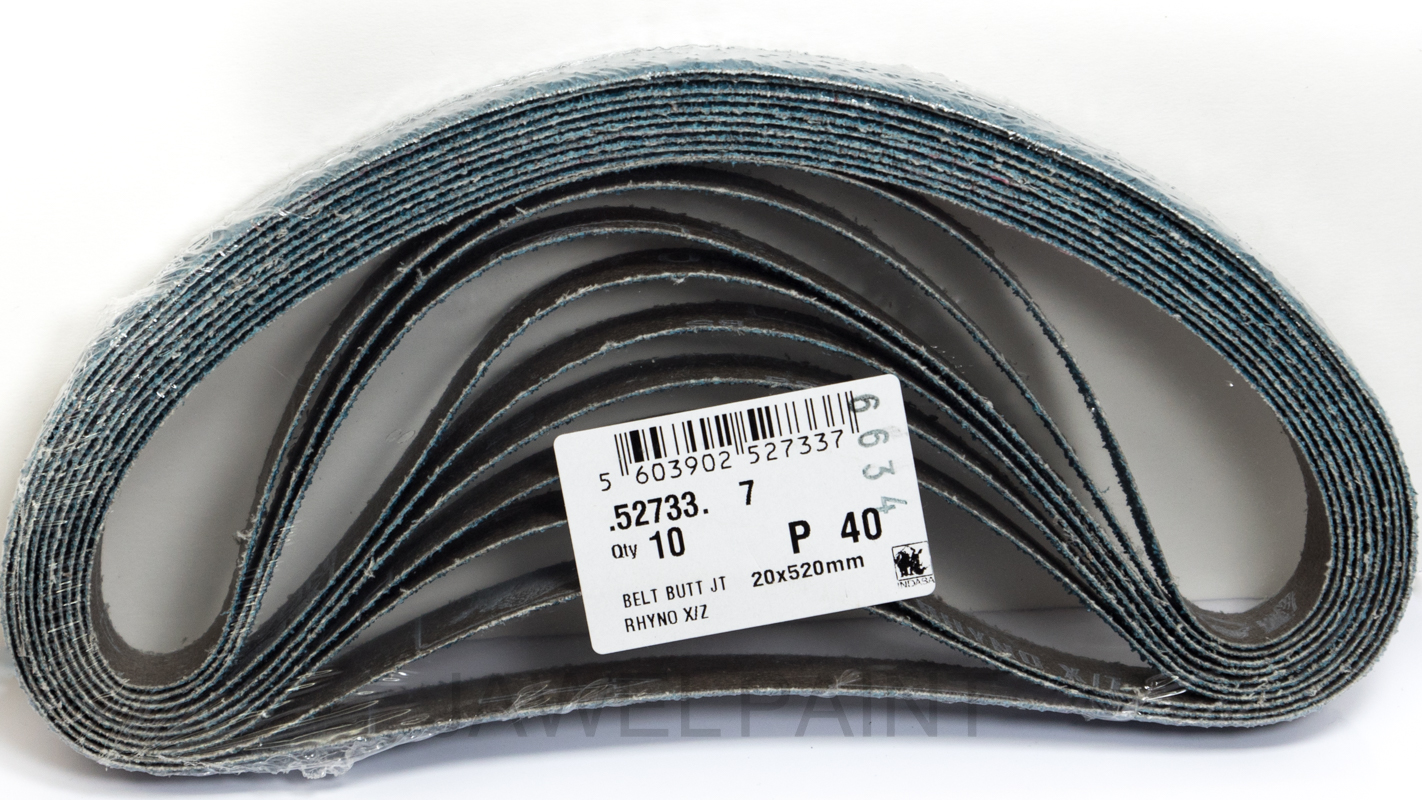 Large Sanding Belts 20x520mm 40 Grit