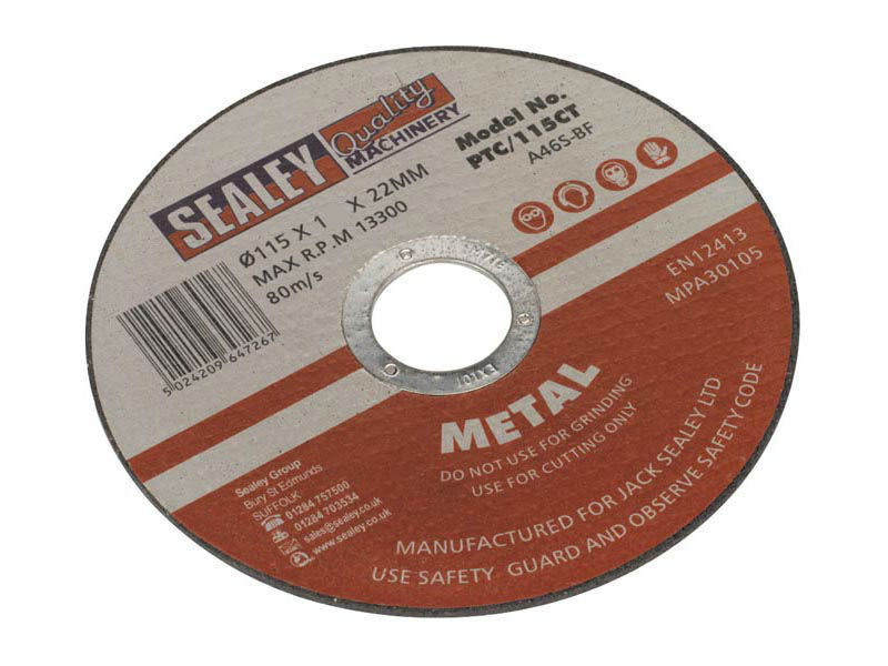 Cutting Disc 115mm x 1mm For Steel