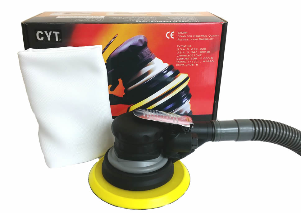 "DA Air Palm Sander 6"" Dust Free"