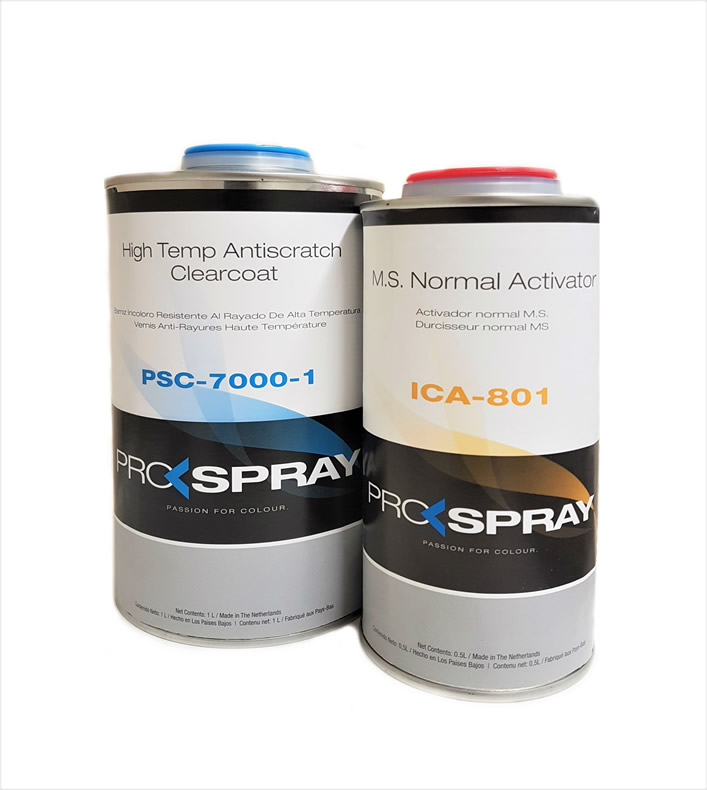 2K Acrylic Clear Lacquer Pro-Spray 7000 1.5Litre Kit
