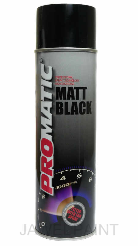 Promatic Matt Black (No Gloss) 500ml Aerosol
