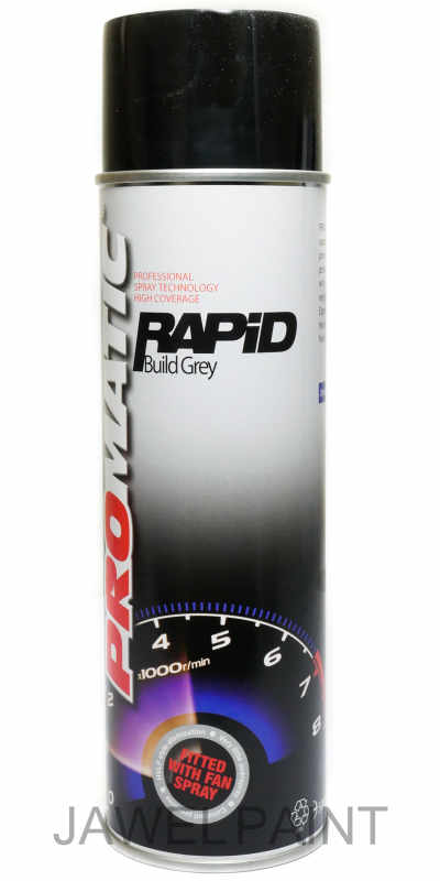 Promatic New Rapid Build Primer Grey Aerosol 500ml