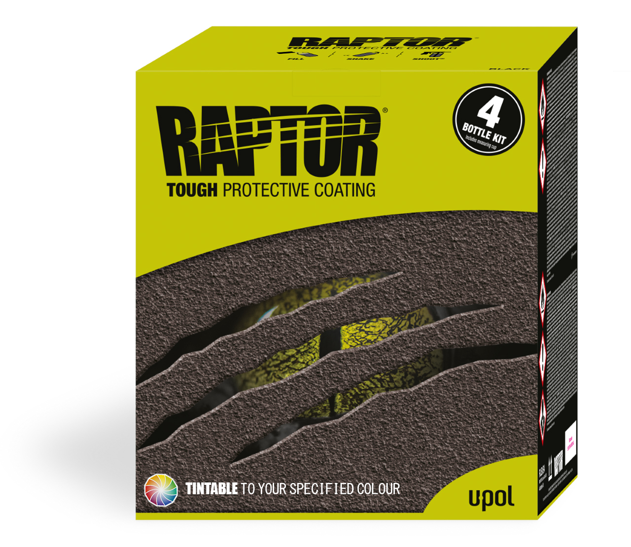 U-POL Raptor 4 Bottle Kit Tinted to Any Colour