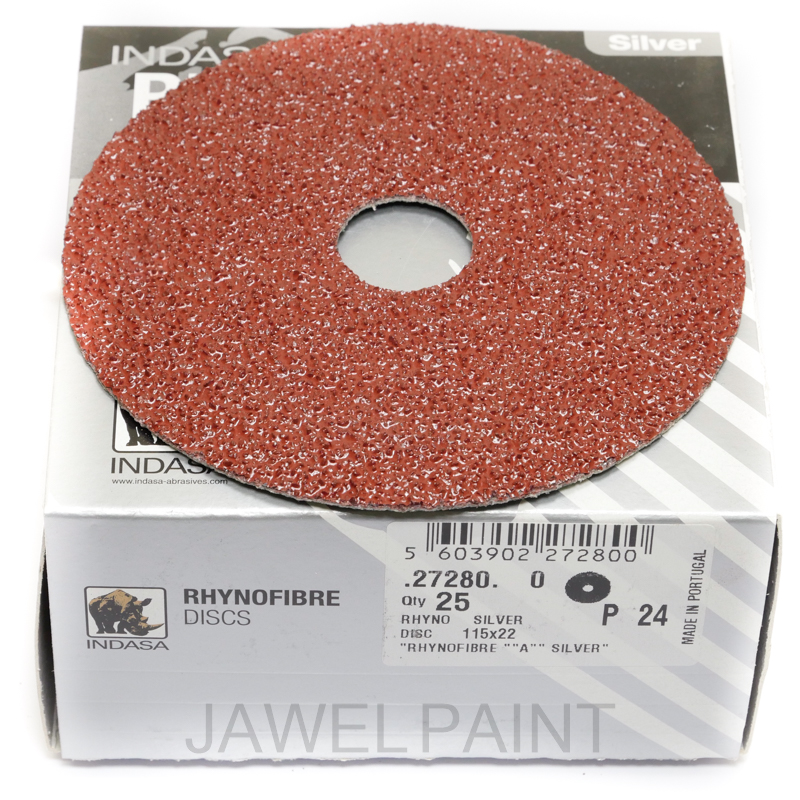 "4.5"" RhynoFibre Resin Bonded Disc's P24 Grit 115 x 22mm"