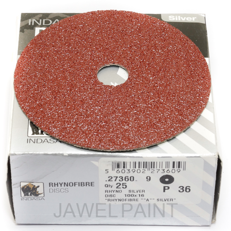 "4"" RhynoFibre Resin Bonded Disc's P36 Grit 100 x 16mm"