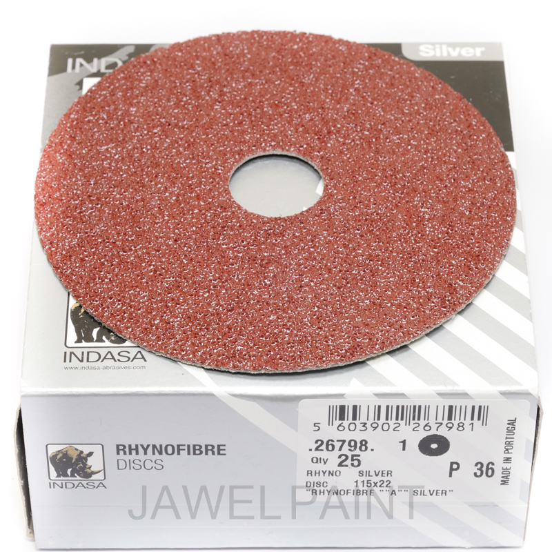 "4.5"" RhynoFibre Resin Bonded Disc's P36 Grit 115 x 22mm"