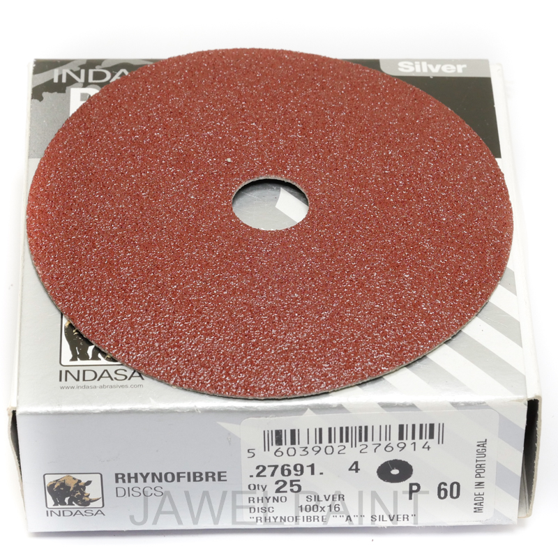 "4"" RhynoFibre Resin Bonded Disc's P60 Grit 100 x 16mm"