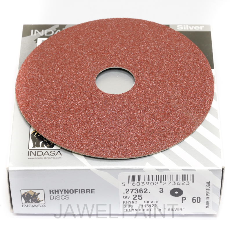 "4.5"" RhynoFibre Resin Bonded Disc's P60 Grit 115 x 22mm"