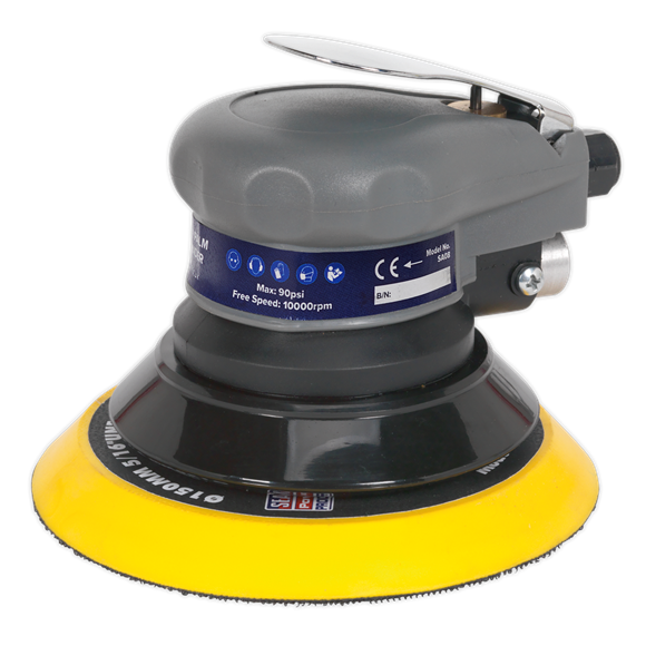 Sealey SA08 Air Orbital Palm Sander 150mm