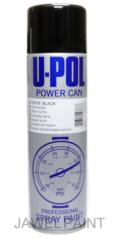 Power Can Satin Black Aerosol 500ML