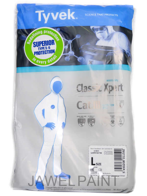Tyvek Overall Medium With Hood