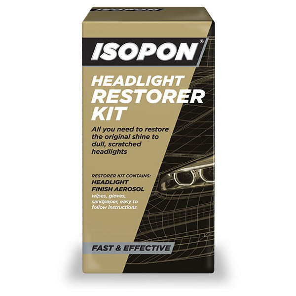 Isopon Headlight Restorer Kit, Perfect For Discolored Headlights