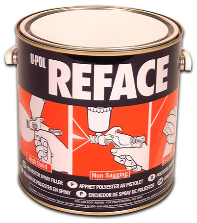 U-POL Reface Spray Filler 2.5Litre INC. CAT.