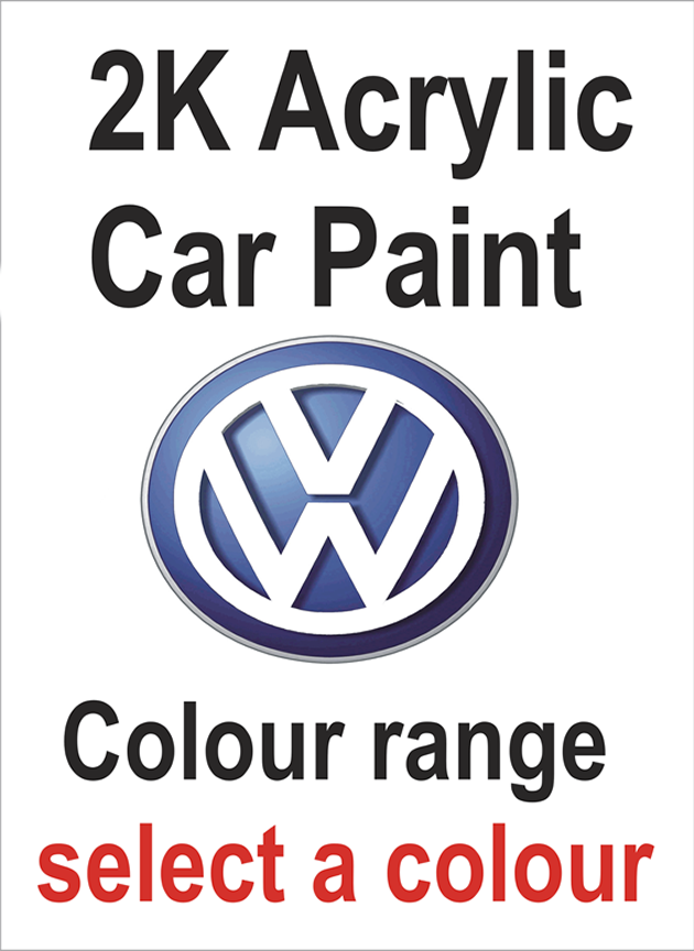 2K Acrylic VW Car Colours Select Size & Colour