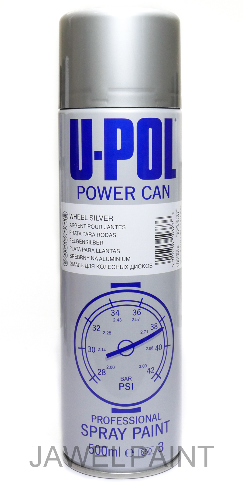 Power Can Wheel Silver Aerosol 500ML