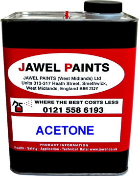 Acetone Cleaning Solvent 2.5 Litre