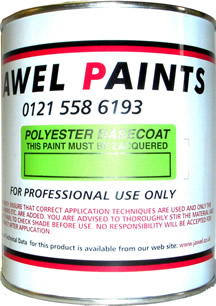 Polyester Basecoat Mixed Colour 1/2Litre