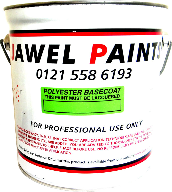 Polyester Basecoat Mixed Colour 2.5 Litre