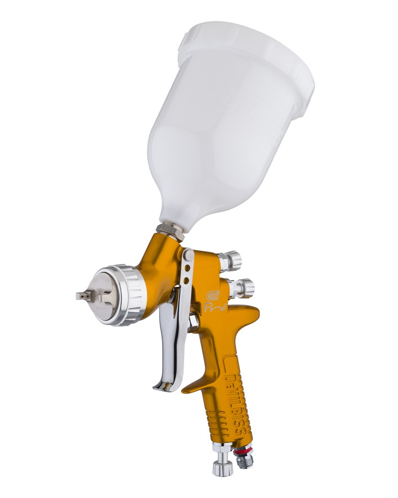 De-Vilbiss GTI Pro Spray Gun Supplied With 1.3mm & 1.2mm Set Up