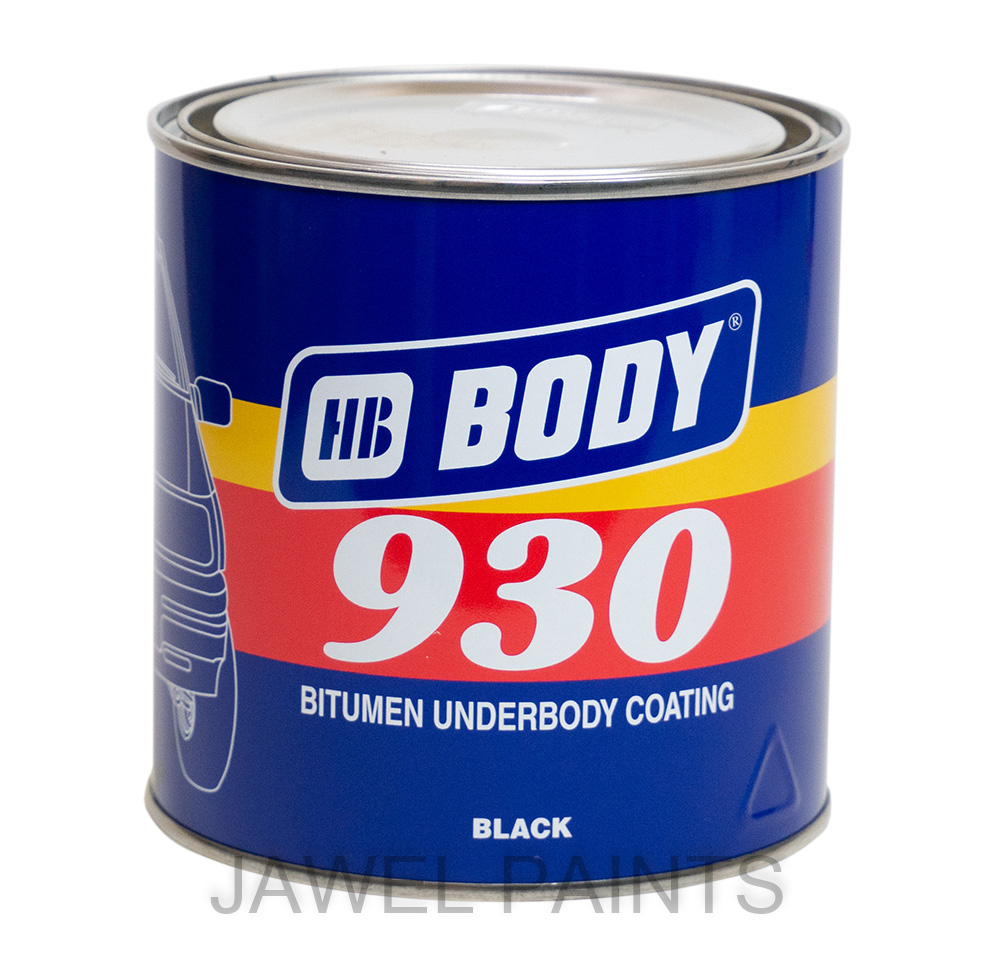 HB Body 930 Bitumen Underbody Coating 1KG Brush Applied