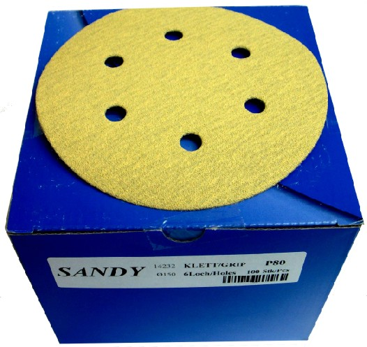 "Mirka Sandy Grip 6"" Disc PK100"